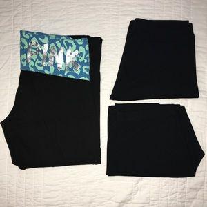 Bundle of THREE VS Leggings